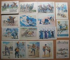 SET 23 Russian Post Card National Costume Clothing Sport Game Competition Folk