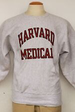 VTG Champion Harvard Medical printed heavy weight sweat shirt LG In Excell Cond!