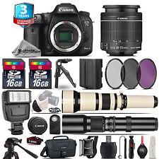 Canon EOS 7D Mark II Camera + 18-55mm IS STM + 650-1300mm +500mm + 3yr Warranty