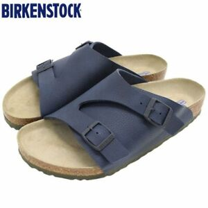 BIRKENSTOCK Zurich BS Desert Soil Blue Men's Slide Sandals Regular Fit 1018719