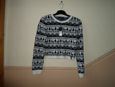 NEW TAGS WAS £35 SIZE 16 LIPSY CHRISTMAS JUMPER FAIRISLE MONOCROME