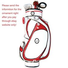 DAD GRANDPA PAPA BOY GIRL GOLF BAG COACH PERSONALIZED CHRISTMAS TREE ORNAMENT