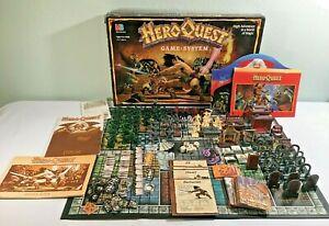 VINTAGE HeroQuest Hero Quest Board Game - 1989/1990 - Near Complete - NICE!