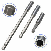 3x Magnetic Screwdriver Extension Drill Bit 1/4'' Hex Shank Quick Release Holder