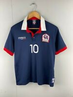 France Mens Navy Official National Soccer Football Jersey #10 Size Medium