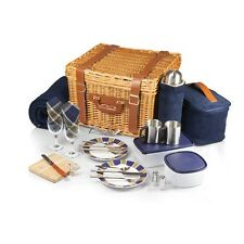 CANTERBURY PICNIC Willow Woven Basket Set for Two - Picnic Time 212-86-915