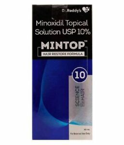 Mintop By Dr. Reddy 10% Topical Solution USP 60 ml Free Shipping World Wide