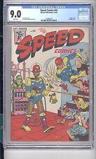 SPEED COMICS  #43   CGC  9.0  VF/NM  COOL ROBOT COVER!   AL AVISON COVER!