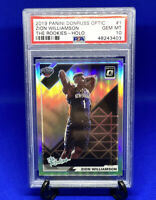 Zion Williamson 2019-20 Optic The Rookies Silver Holo Prizm Rookie Card PSA 10