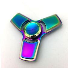 EDC Fidget Spinner Titanium Metal Hand Tri-Spinner Color Changing Mens Focus Toy