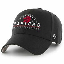 Toronto Raptors 47 Brand Black 2019 NBA Finals Champions MVP Adjustable Hat Cap