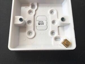 4no Surface Mounted Box, MK K2160, 1 Gang, 16mm Surface
