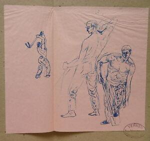 Drawing Original Ink Verner -etude Pir Sensor Motion - Auvers On Oise V4