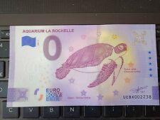 BILLET EURO SOUVENIR 2021-5 AQUARIUM LA ROCHELLE