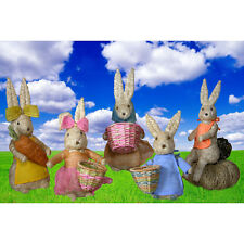 Brother Easter Bunny Rabbit Decoration Abaca Fiber Handmade Philippines