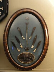 Antique Sailors Carving Collection in Bubble Glass Frame