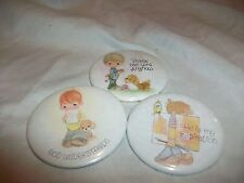 Lot 3 Vintage Precious Moments Pin Back Button Badge God Understands Inspiration