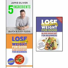 Jamie Oliver 5 ingredients, Slow Cooker Diet and Blood Sugar Diet 3 Books Set