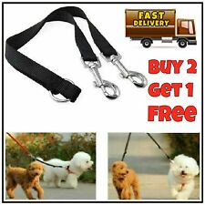 """33"""" Duplex Dog Coupler Twin Double Lead 2 Way Two Dogs Pet Walking Safety Leash"""