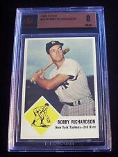 1963 Fleer #25 Bobby Richardson Yankees BVG 8 NM-MT (OLD GOLD LABEL) BEAUTY!