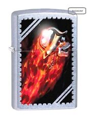 ROCKET SKULL BLAST OFF & CHROME HELMET  ZIPPO LIGHTER STREET CHROME - NEW IN BOX