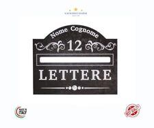 Buca lettere cassetta postale cornice casella placca esterno numero civico targa