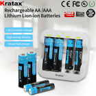 1.5V AA AAA Lithium Rechargeable Battery Charger Li-Ion batteries 3500mWh LOT