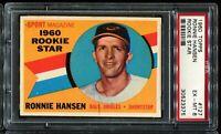 1960 Topps Baseball #127 RONNIE HANSEN Baltimore Orioles RC ROOKIE PSA 6 EX-MT
