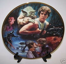 "Star Wars Luck & Yoda Trilogy 9¼"" Plate Empire Strikes Back 24K Gold"
