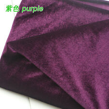 "Purple Silk velvet fabric Velour fabric Pleuche fabric table cloth 60"" BTY"