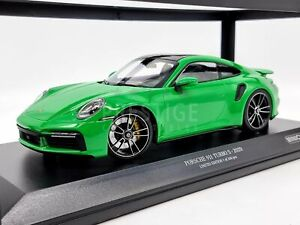 Minichamps 2020 Porsche 911 992 Turbo S Green 1:18 Scale - New