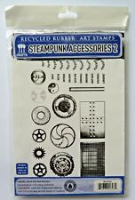 EcoGreen Recycled Rubber Art Stamp Set Steampunk Accessories 2