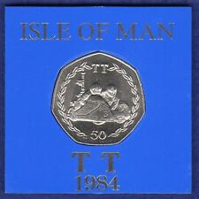 Isle of Man, 1984 TT 50p, 50 Pence Coin, in Plastic Case (Ref. t1144)