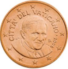 Vatikaan  2009   5  ct   UNC uit de BU   UNC du coffret  Zeldzaam - Extreme rare