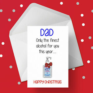 Christmas Card for Dad - Free 1st class postage - Funny finest alcohol