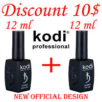 LOWEST PRICE!!! 12ml. Kodi Professional - Gel LED/UV Rubber TOP + Rubber Base