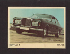 Bentley T Scarce 1970s Car Sticker Card from Italy #195