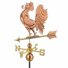 Good Directions Crowing Rooster Weathervane - Polished Copper 637P
