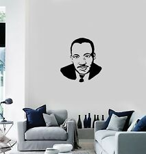 Vinyl Decal Wall Sticker Mural Martin Luther King Portrait Silhouette (g075)