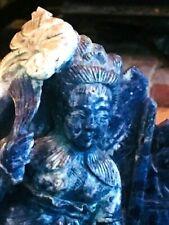 Antique Natural Lapis Lazuli Buddha Stunning Unique Original Healing
