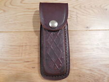 New 9mm Leather magazine pouch 15 to  17 round Double Stack - Brown case