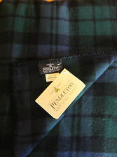 NWT PENDLETON WOOL BLANKET QUEEN BLANKET WASHABLE BLACK WATCH TARTAN Made in USA