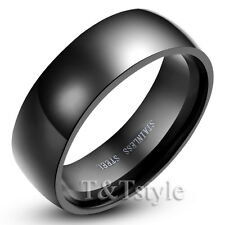TOP QUALITY T&T BLACK Stainless Steel RING SIZE 12
