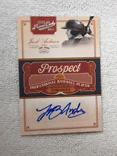 Toronto Blue Jays Jacob Anderson Signed 2011 Playoff Prime Cuts Auto Card #/299