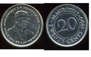 MAURICE  20  cents 1999  ( bis )