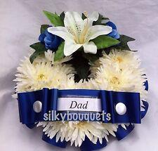 Artificial Silk Chrysanthemum Funeral Flower Wreath Floral Tribute Memorial Fake