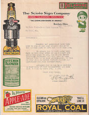 SCITO SIGN COMPANY SIGNED LETTER, APRIL 13, 1923