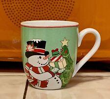 Fitz & Floyd Top Hat Frosty Snowman Christmas Holiday Coffee -Tea Holiday Mug