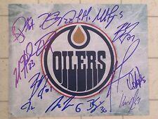 EDMONTON OILERS Team Signed Logo Photo Eberle Draisatl