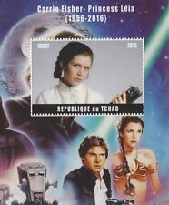 CARRIE FISHER - PRINCES LEIA 1956-2016 TRIBUTE STAR WARS MNH STAMP SHEETLET